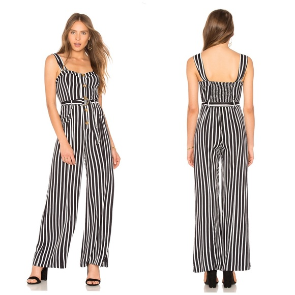 40e0d995856e Free People City Girl Belted Striped Jumpsuit. M 5bef297daaa5b89e898f1c3c